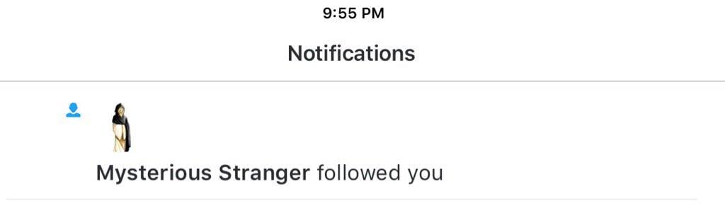 Mysterious Stranger followed you