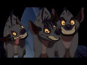 Hyenas from Lion King